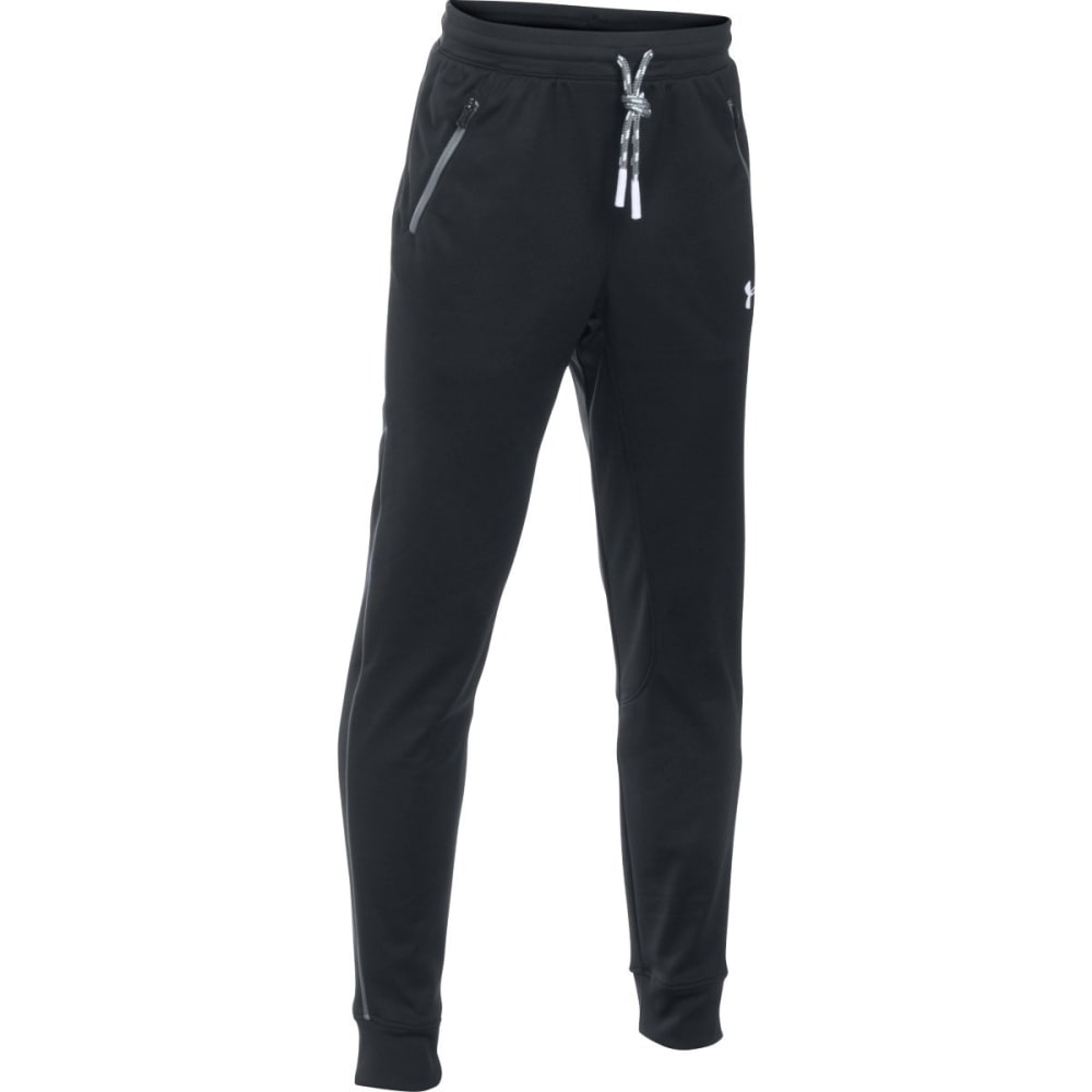 UNDER ARMOUR Boys' Pennant Tapered Pants - BLK/WHT-001