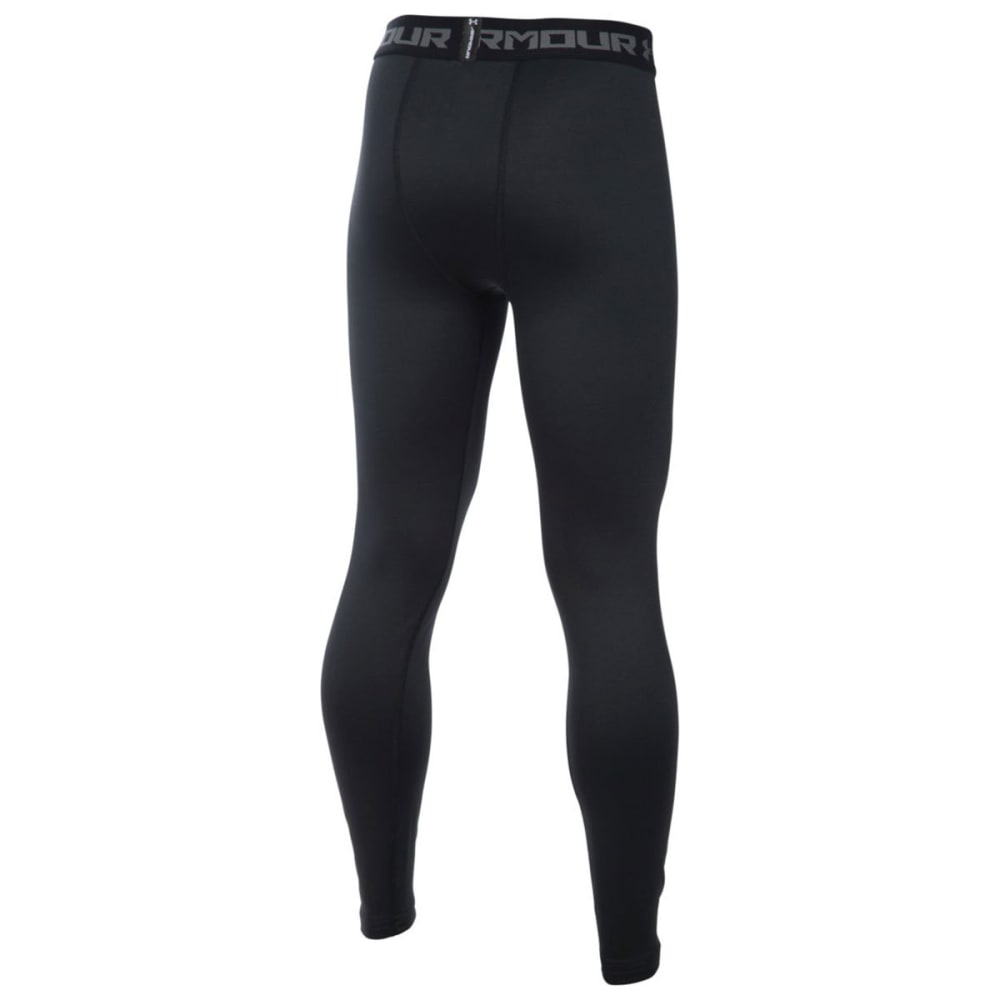 UNDER ARMOUR Boys' Cold Gear Leggings - BLACK-001