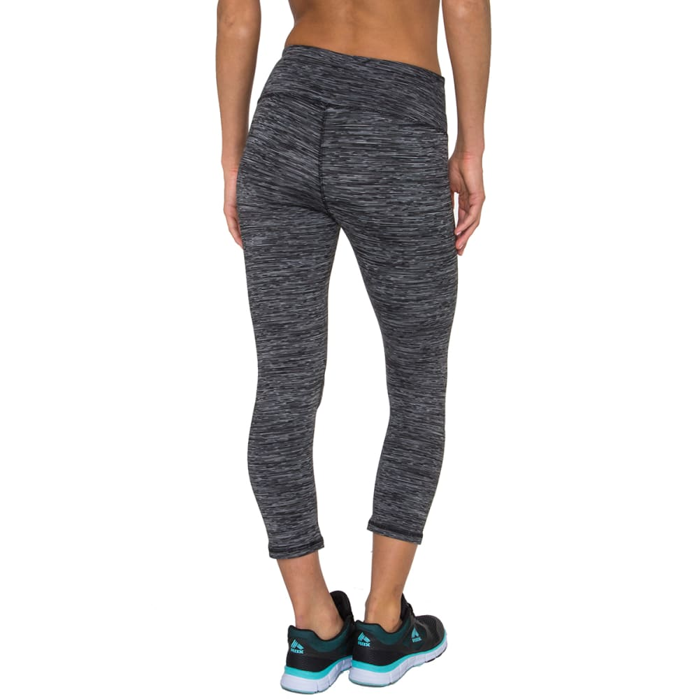 RBX Women's 4-Color Space Dye Leggings - BLACK/GREY-B