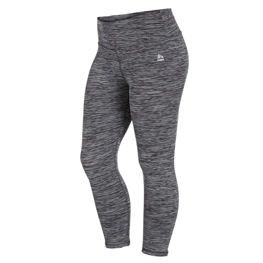 RBX Women's 4-Color Space Dye Leggings - BLACK/GREY-B