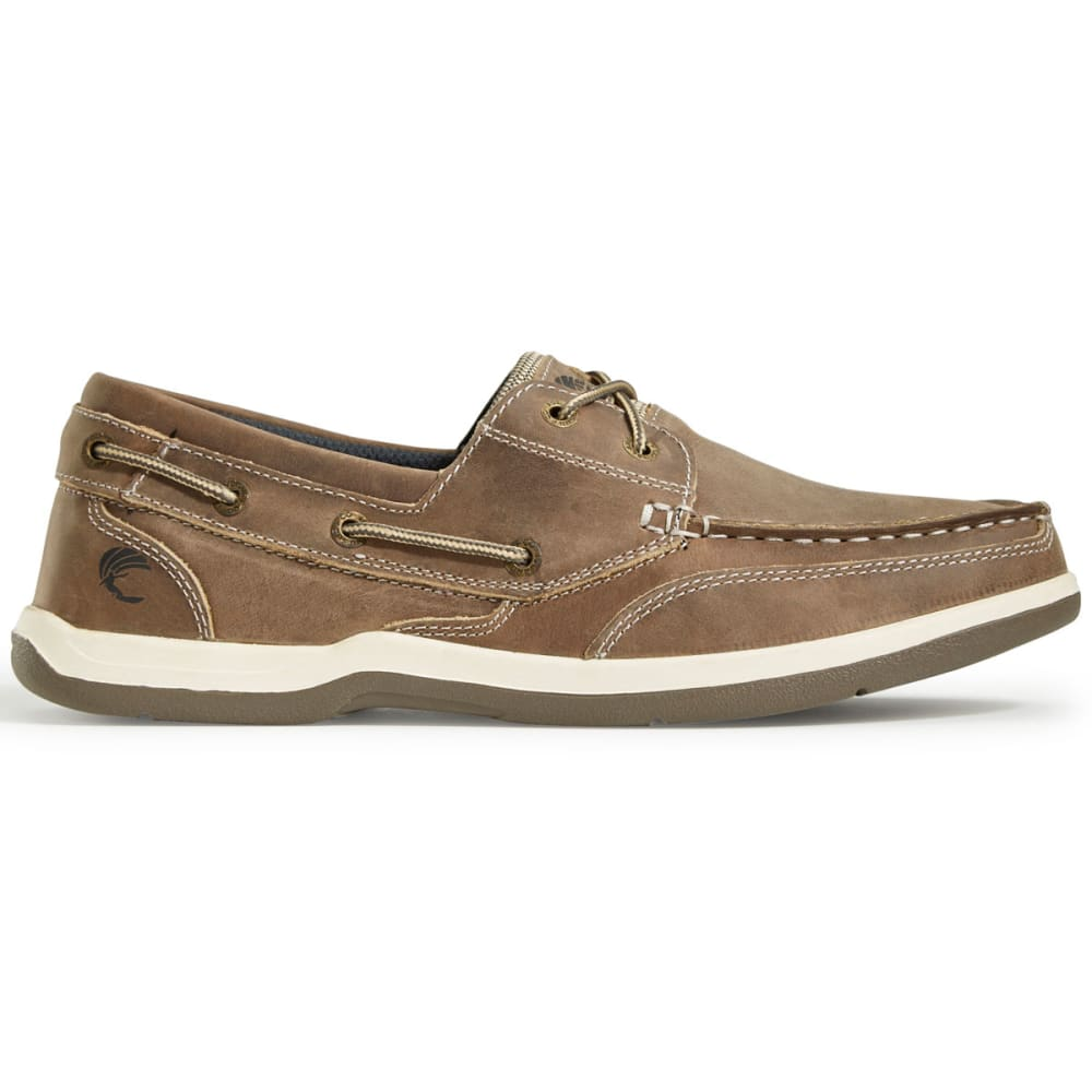 ISLAND SURF CO Men's Classic Boat Shoes, Wide - TAN