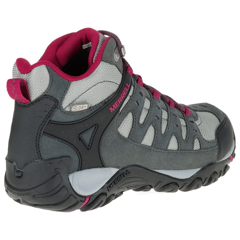 MERRELL Women's Accentor Mid WP Hiking Shoes, Castlerock/Beet Red - CASTLEROCK/BEET RED