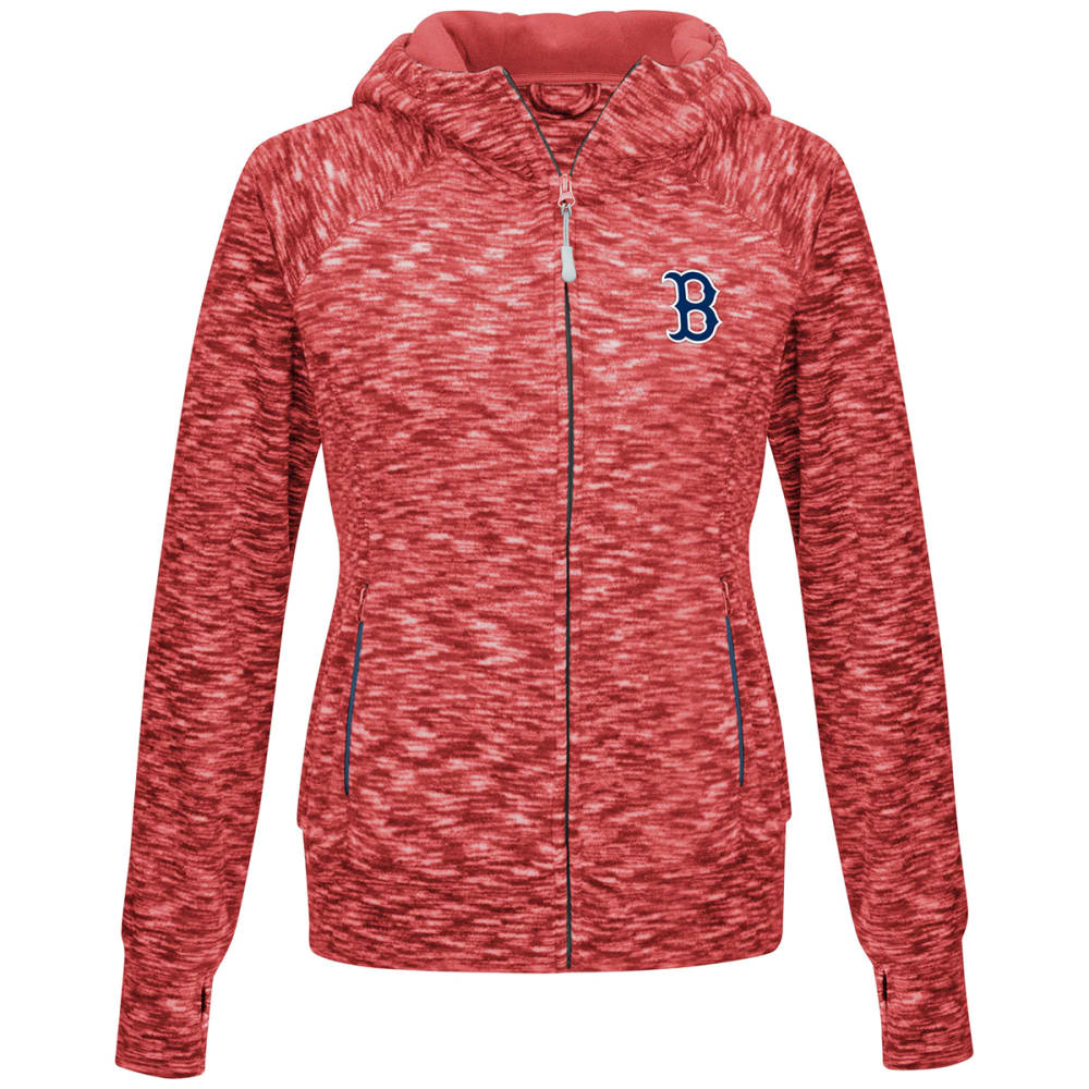 BOSTON RED SOX Women's Journey Full Zip Hooded Fleece - RED