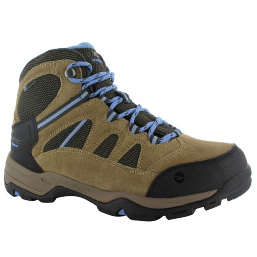 HI-TEC Women's Bandera Mid II WP Hiking Boots - HONEY/TAUPE/CORNFLOW