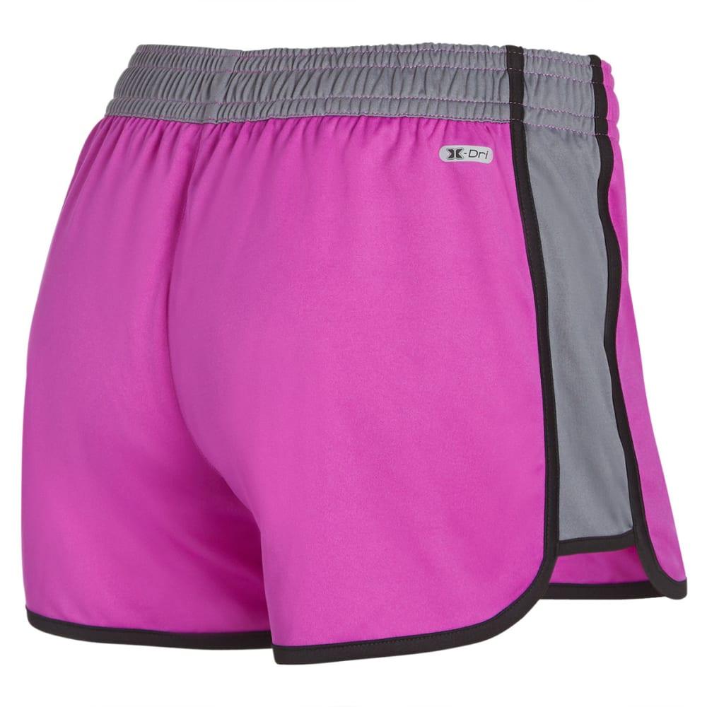 RBX Women's Running Interlock Shorts - FROST MAGENTA/GREY-B