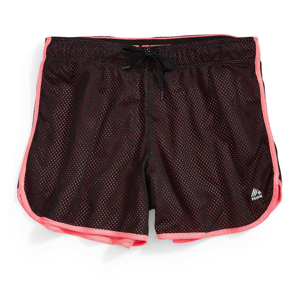 "RBX Women's 5"" Mesh Shorts - BLACK/HIBISCUS-C"