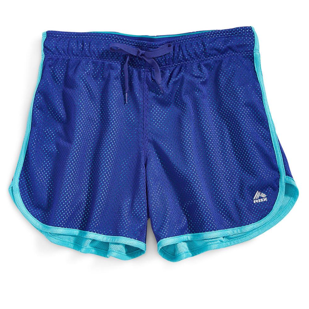 """RBX Women's 5"""" Mesh Shorts - BLAZER BLUE-A"""