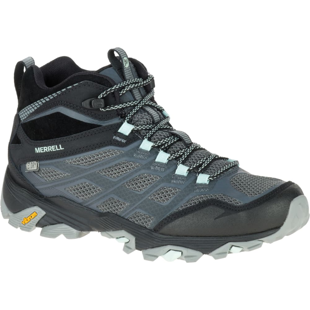 MERRELL Women's Moab FST Mid Waterproof Boots, Granite 6.5