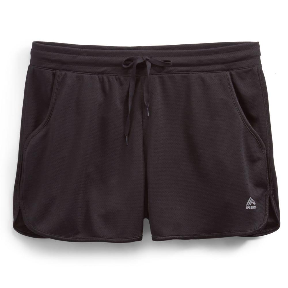 RBX Women's Mesh Running Shorts - BLACK/BLACK-A