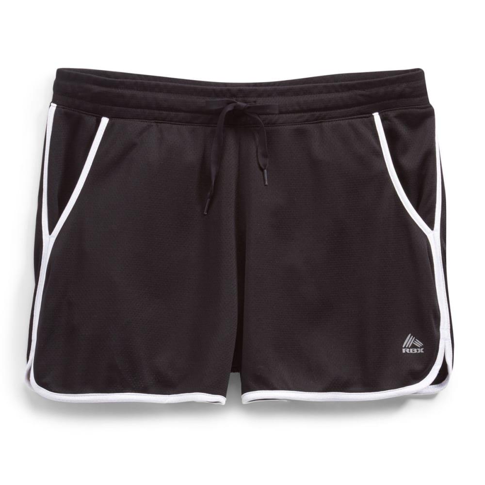 RBX Women's Mesh Running Shorts - BLACK/WHITE-B