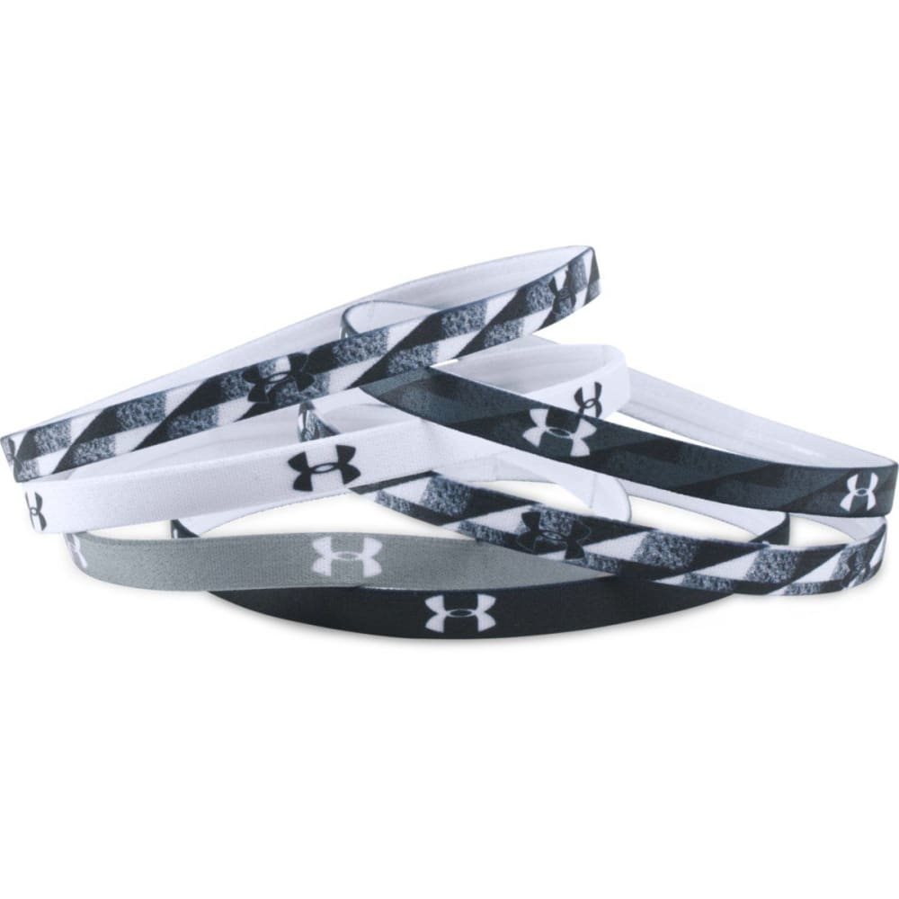UNDER ARMOUR Women's Graphic Mini Headbands, 6 Pack - BLACK 001