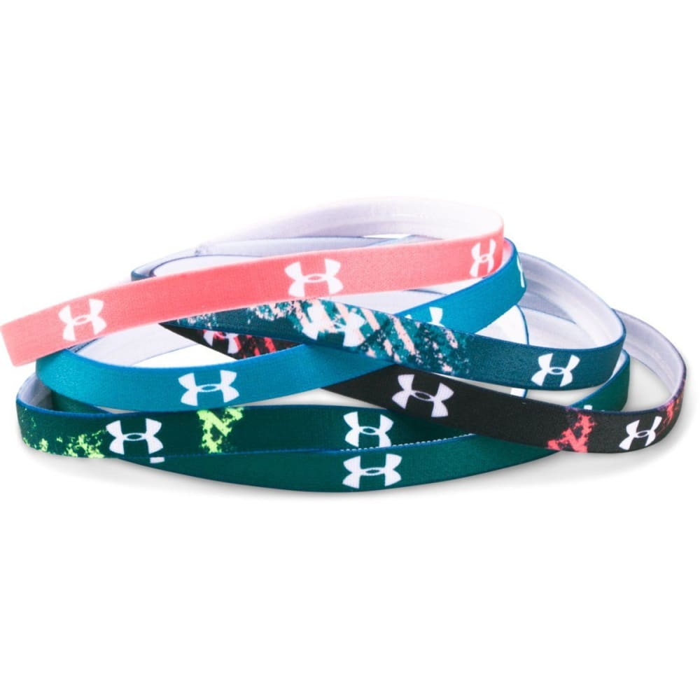 UNDER ARMOUR Women's Graphic Mini Headbands, 6 Pack ONE SIZE