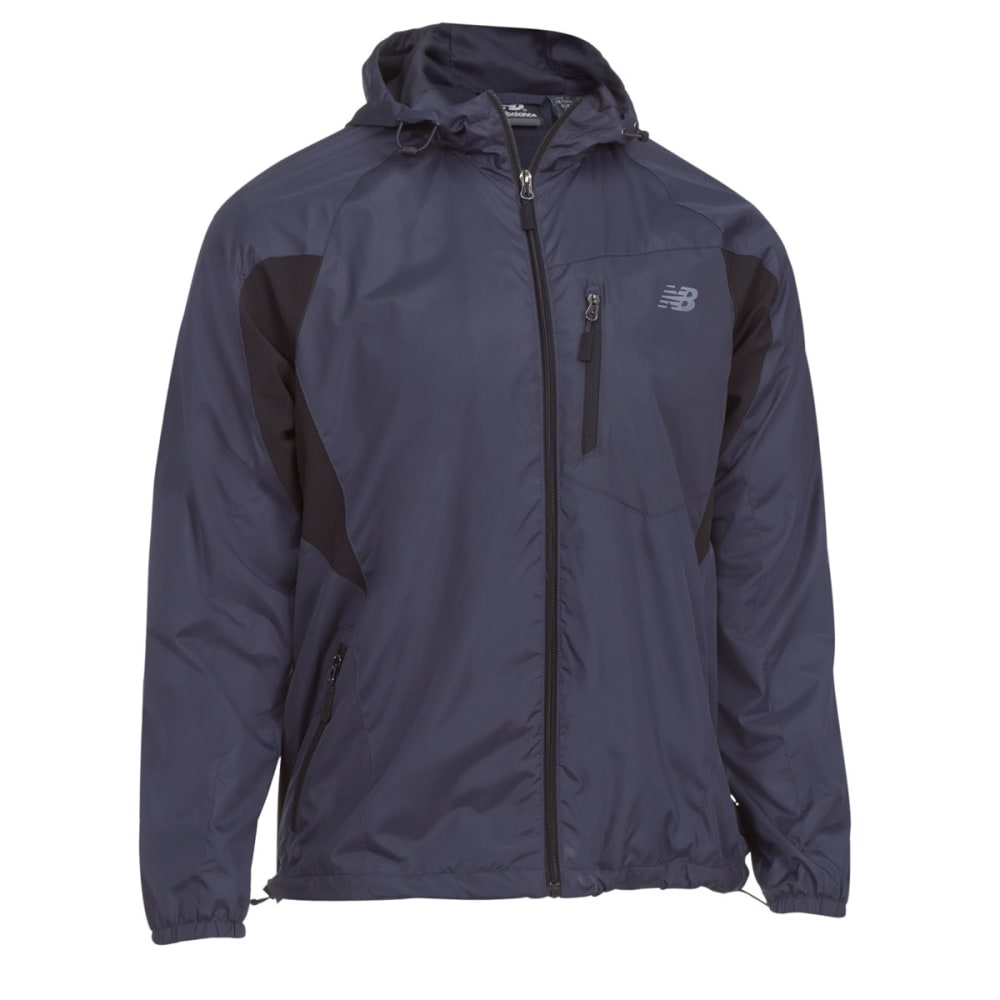 NEW BALANCE Men's Mini Ripstop Hooded Jacket - THUNDER GREY-GY353