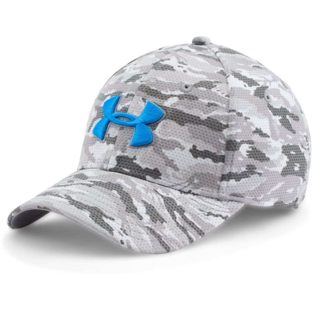 UNDER ARMOUR Men's Printed Blitzing Stretch Fit Cap - GREY CAMO 941
