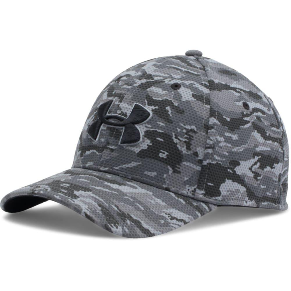 UNDER ARMOUR Men's Printed Blitzing Stretch Fit Cap - BLACK/GRAF CAMO 001