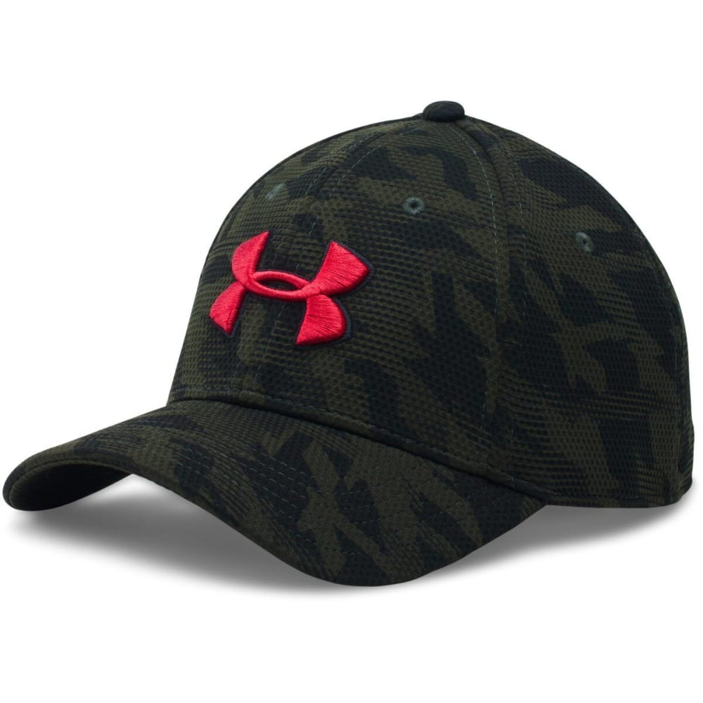 UNDER ARMOUR Men's Printed Blitzing Stretch Fit Cap - ARTILLERY/BLACK 357