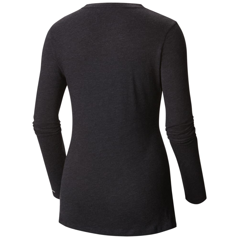 COLUMBIA Women's Tulip Long Sleeve Tee - 030-CHARCOAL HEATHE