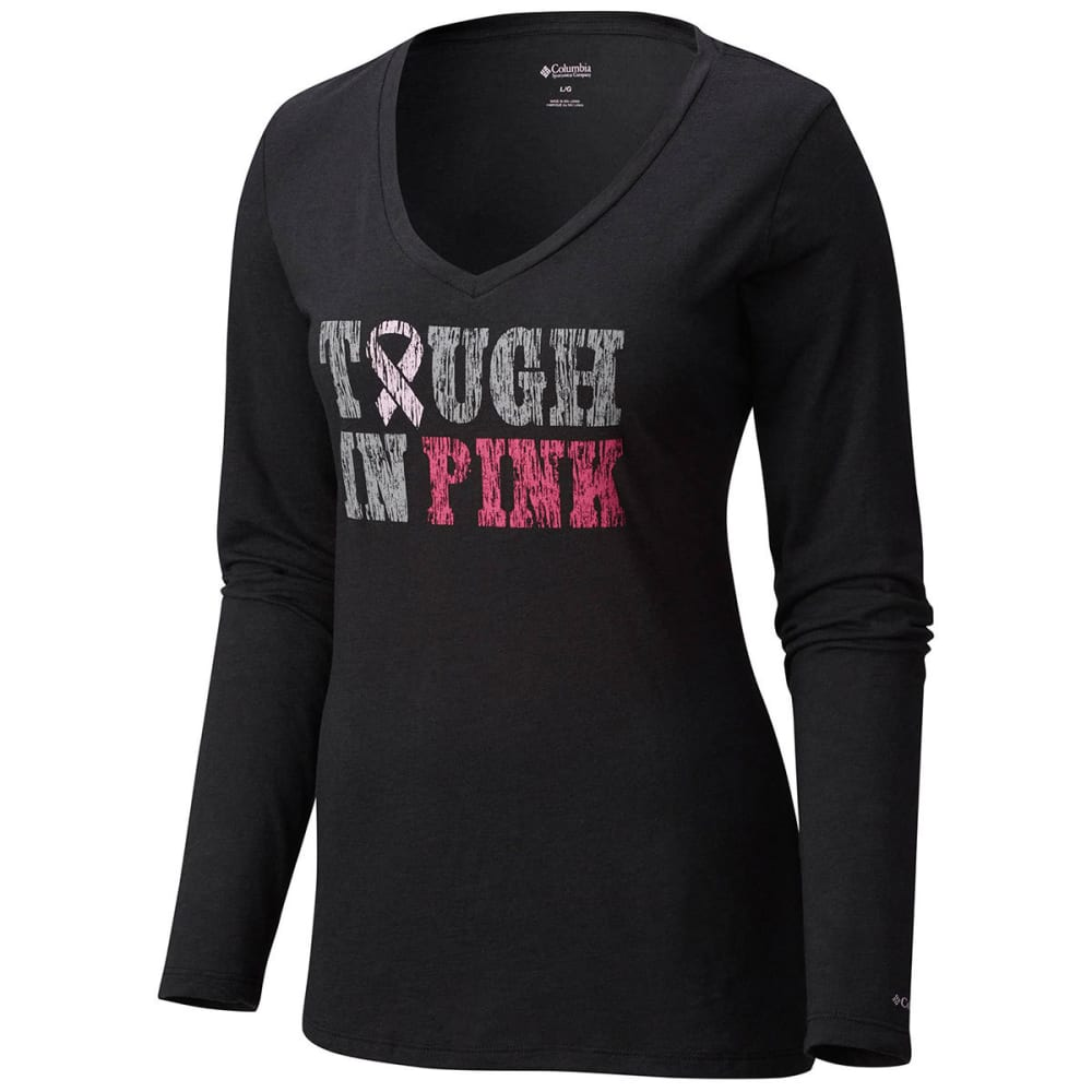 COLUMBIA Women's Tough In Pink Long Sleeve Tee - -010 BLACK