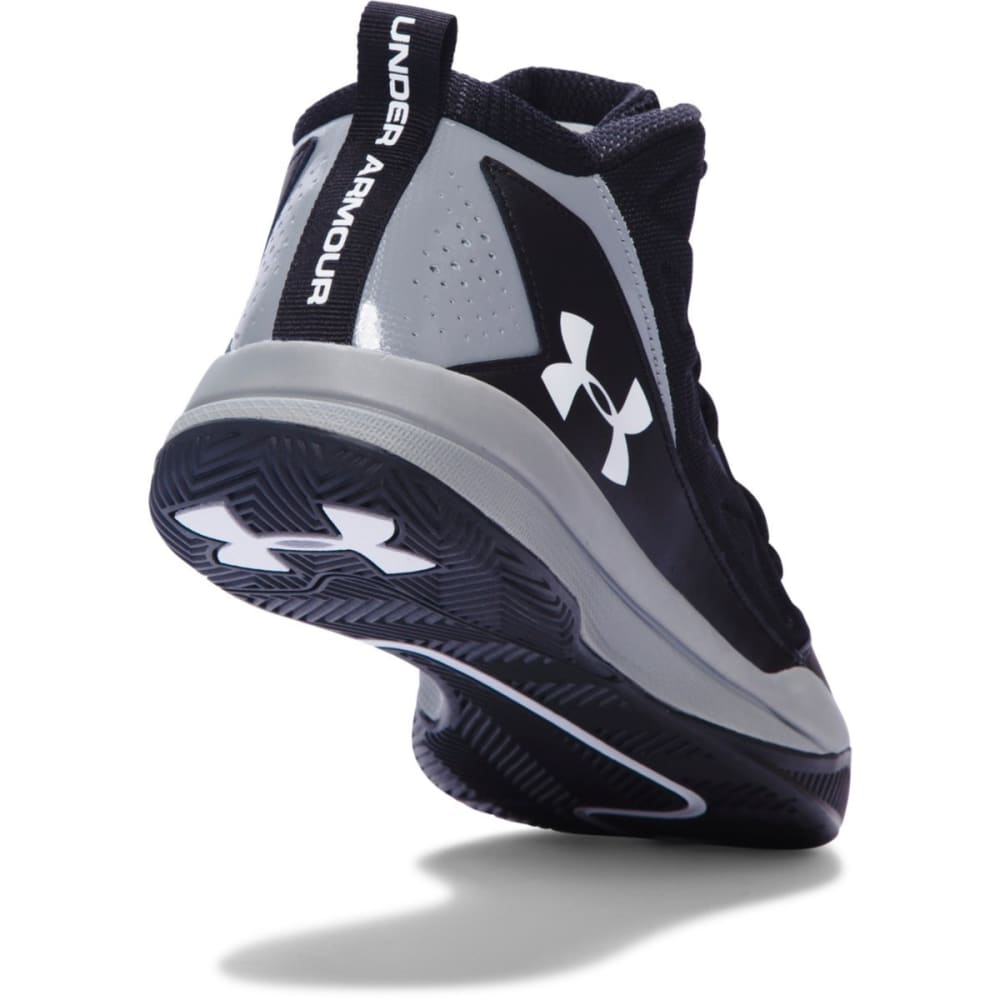 UNDER ARMOUR Men's Jet Mid Basketball Shoes - BLACK