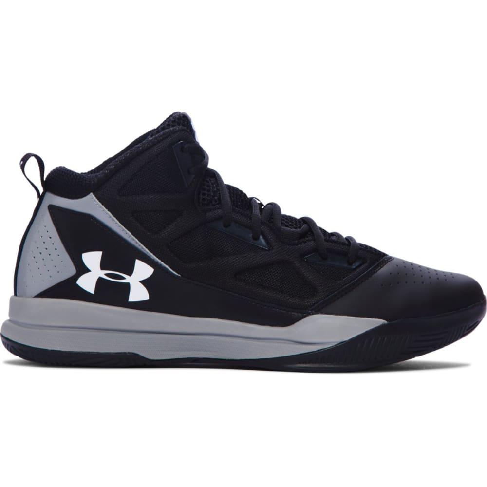 UNDER ARMOUR Men's Jet Mid Basketball Shoes - BLACK