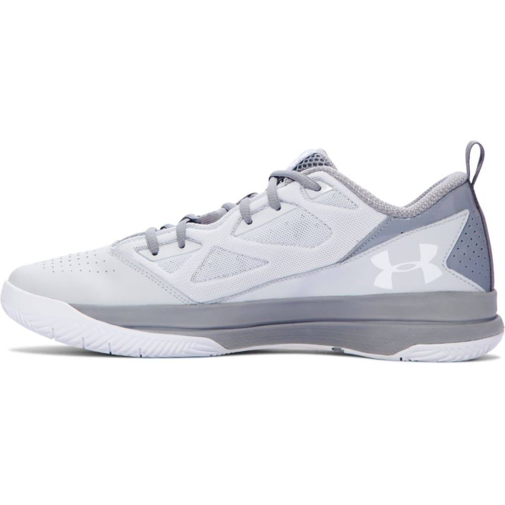 UNDER ARMOUR Men's Jet Low Basketball Shoes - GREY