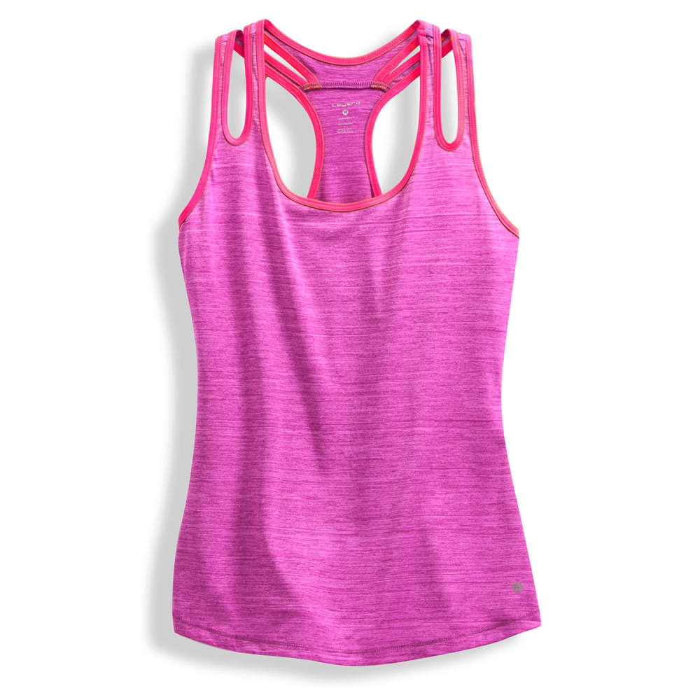 LAYER 8 Women's Double Strap Tank Top - TROP ORCHID -ORD