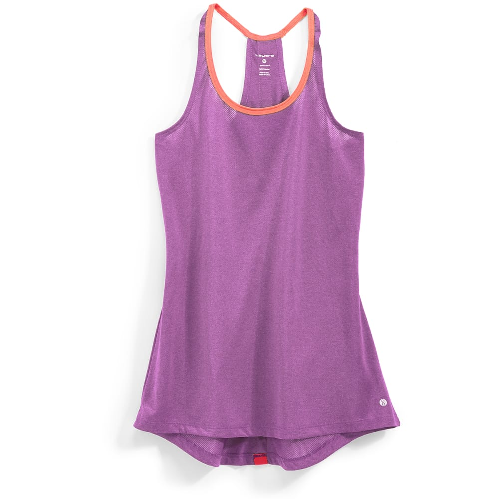LAYER 8 Women's Singlet Tank - PURPLE CACTUS-PFW