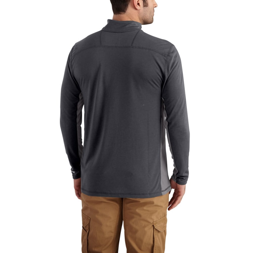 CARHARTT Men's Force Extremes 1/4-Zip Long-Sleeve Shirt - 028 SHADOW/ASPHALT