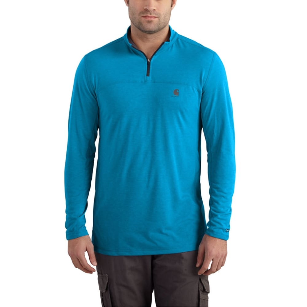 CARHARTT Men's Force Extremes 1/4-Zip Long-Sleeve Shirt - 427 DYNAMIC BLUE