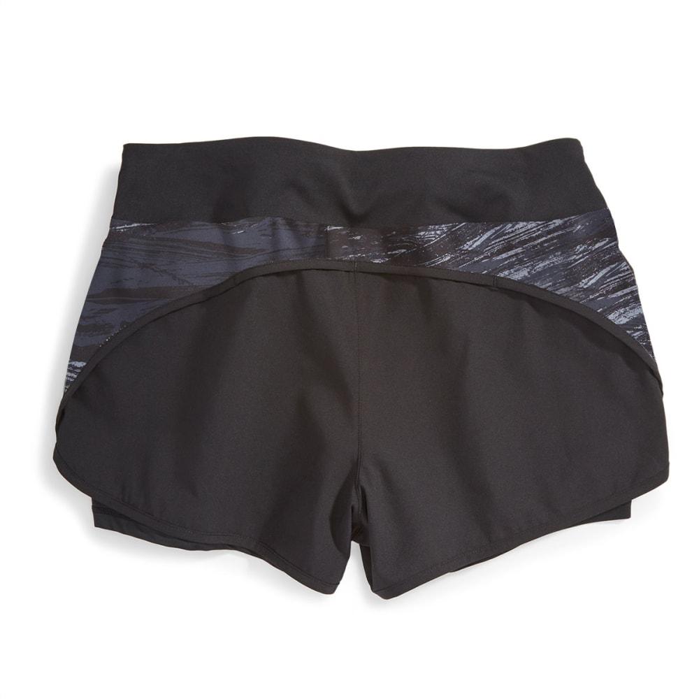 LAYER 8 Women's Printed Woven Shorts - EBONY -EBN