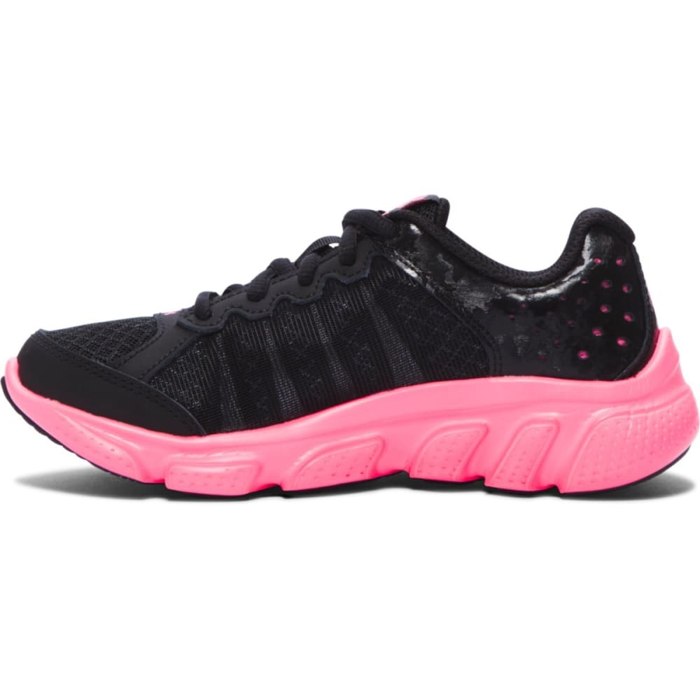 UNDER ARMOUR Girls' Pre-School UA Assert 6 AC Running Shoes - BLACK