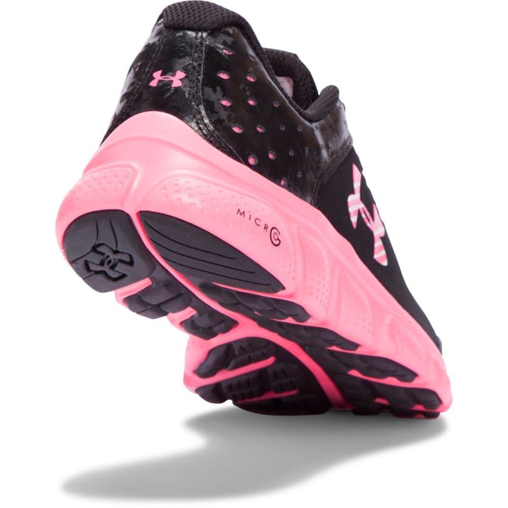 UNDER ARMOUR Girls' Grade School UA Assert 6 AC Running Shoes - BLACK/MOJO PINK