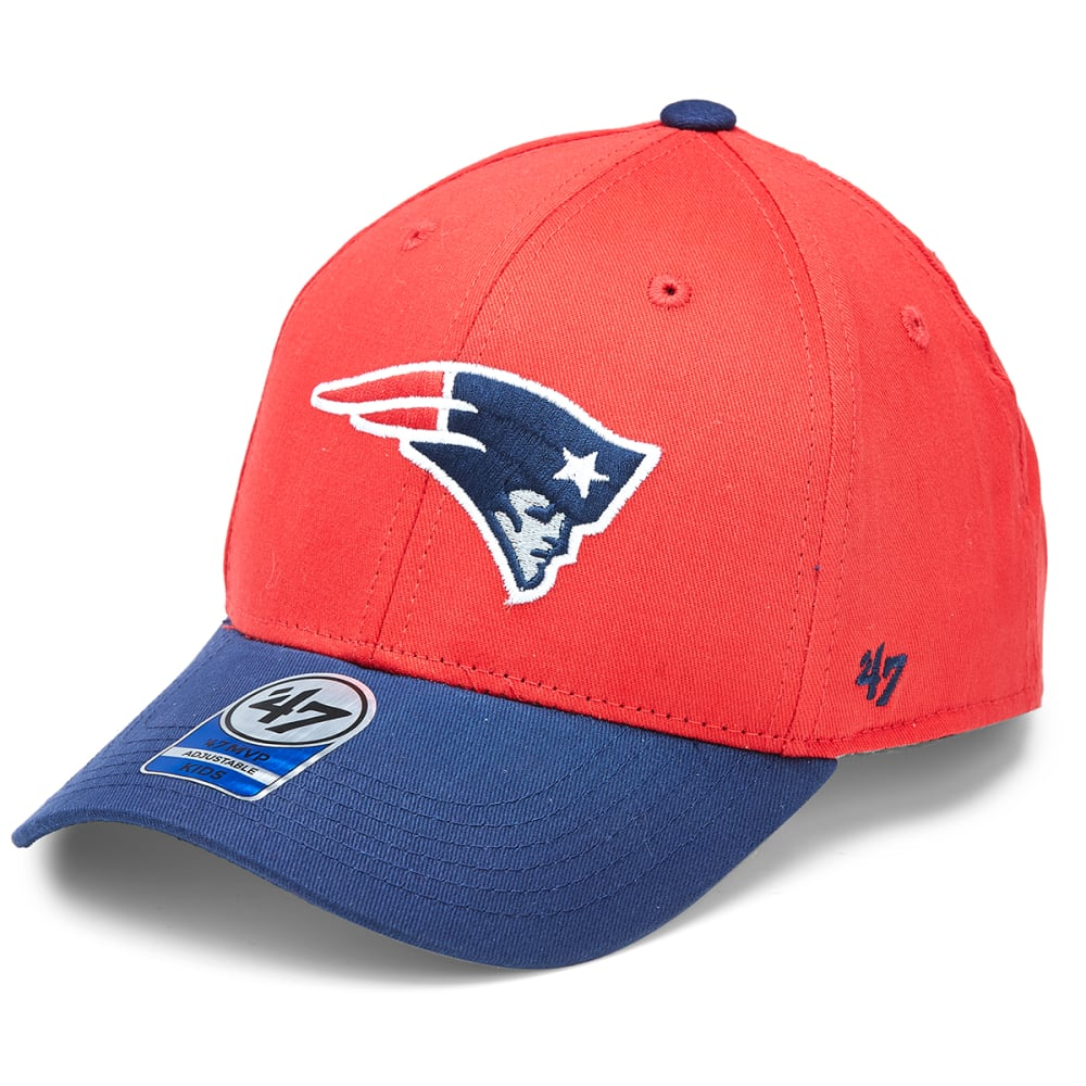 NEW ENGLAND PATRIOTS Kids' Short Stack Two-Tone Adjustable Cap - RED