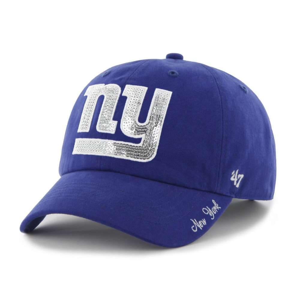 NEW YORK GIANTS Women's '47 Sparkle Adjustable Hat - ROYAL