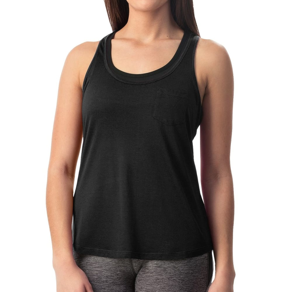 Apana Women's Pocket Tank Top - Black, L