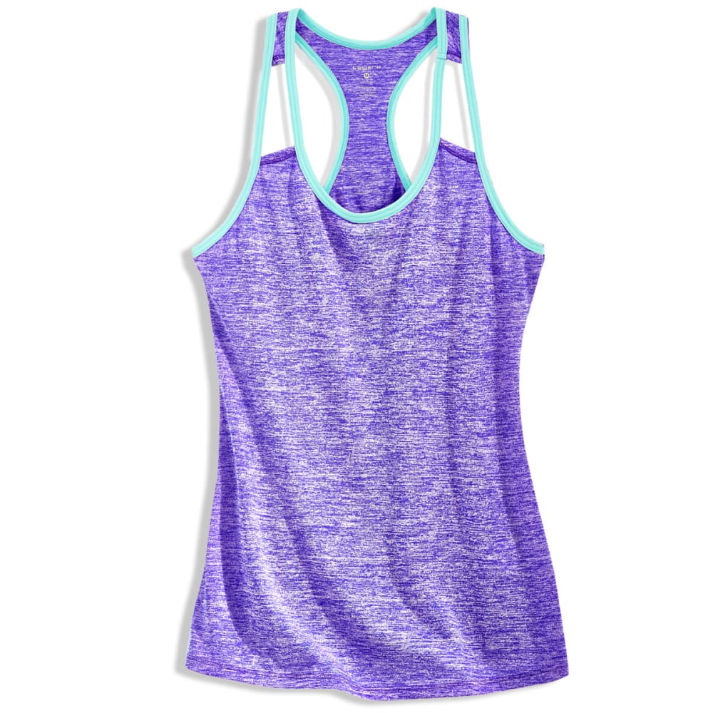 LAYER 8 Women's Fly Away Heather Cotton Tank Top - VIOLET JEWEL-VTL