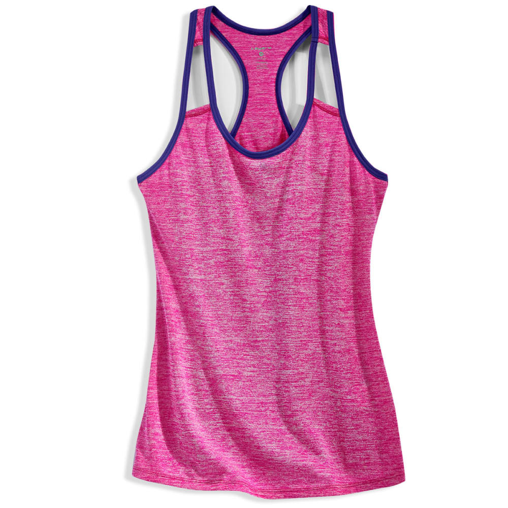 LAYER 8 Women's Fly Away Heather Cotton Tank Top - TROP ORCHID-ORD