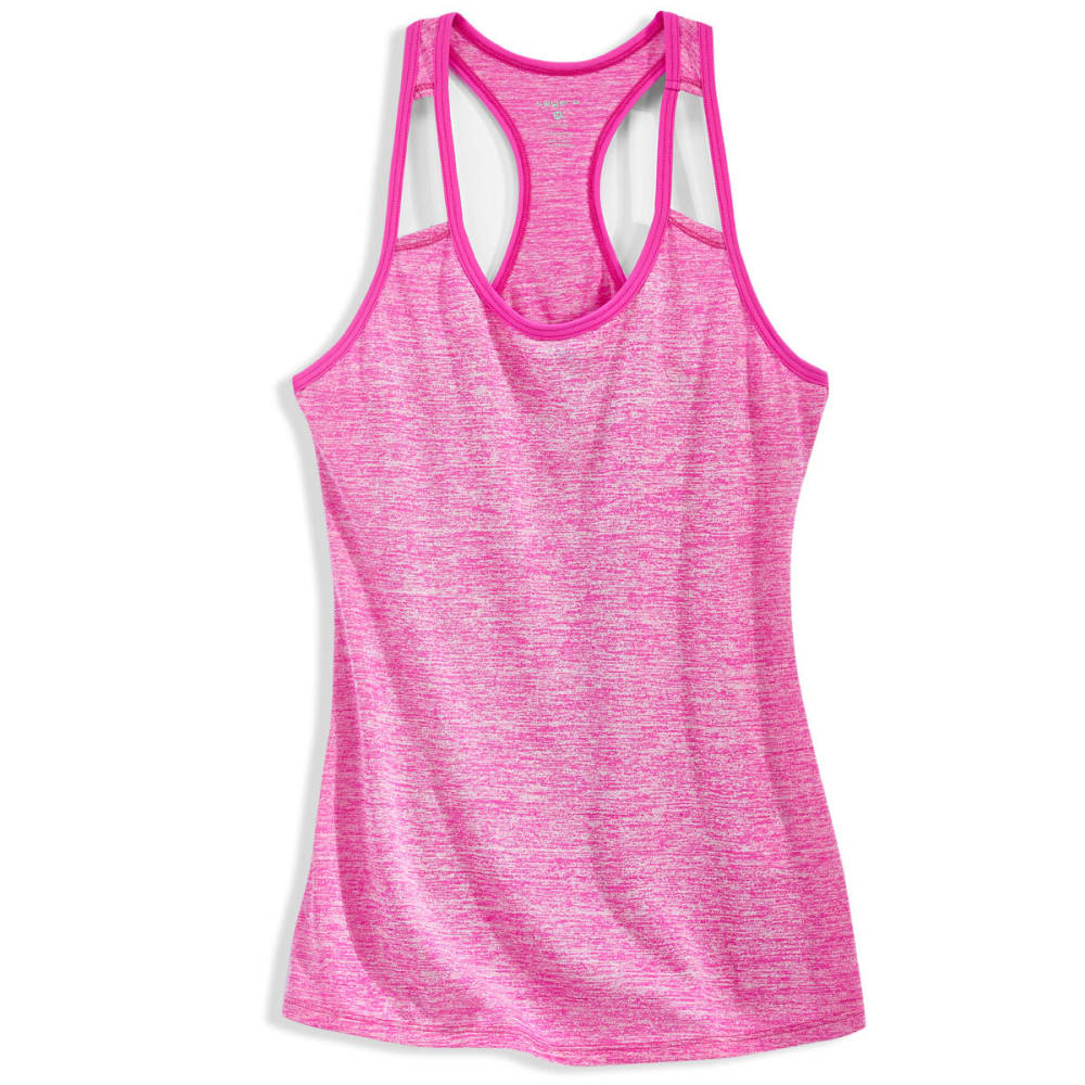 LAYER 8 Women's Fly Away Heather Cotton Tank Top - NEON PINK-821