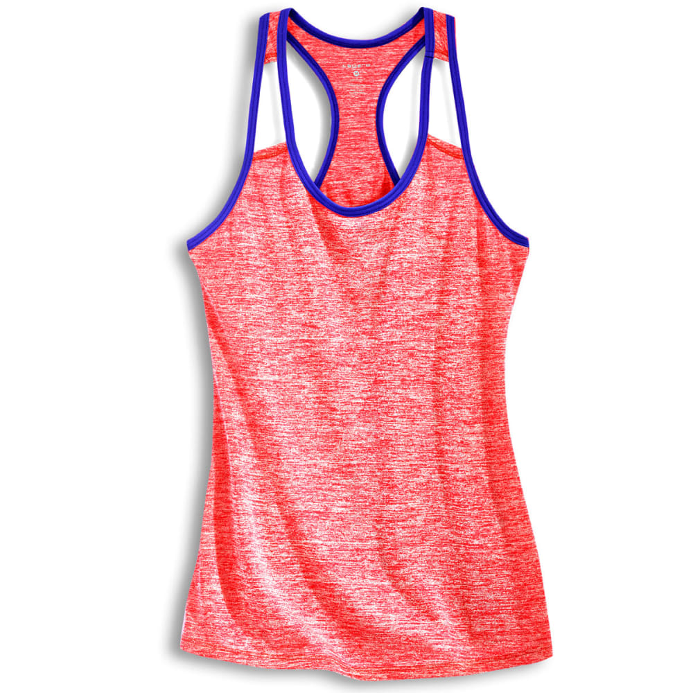 LAYER 8 Women's Fly Away Heather Cotton Tank Top - NEW CORAL-NCO