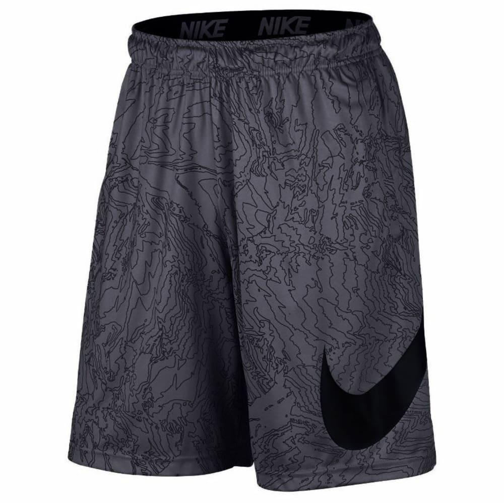 NIKE Men's 9 in. Dry Topo Print Training Shorts - COOL GREY/BLACK-065