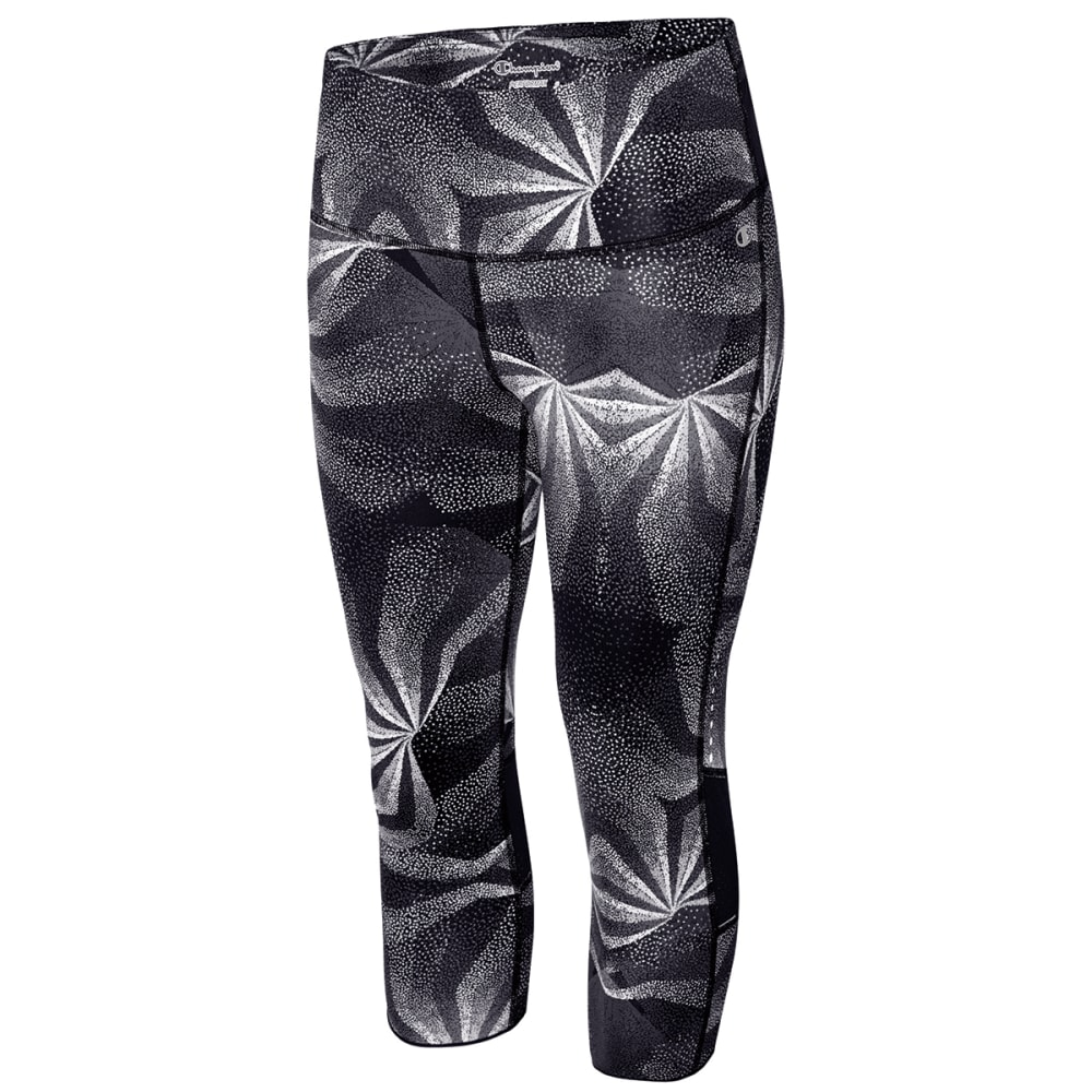 CHAMPION Women's Marathon Printed Knee Tight - BLACK/KALEID-00R