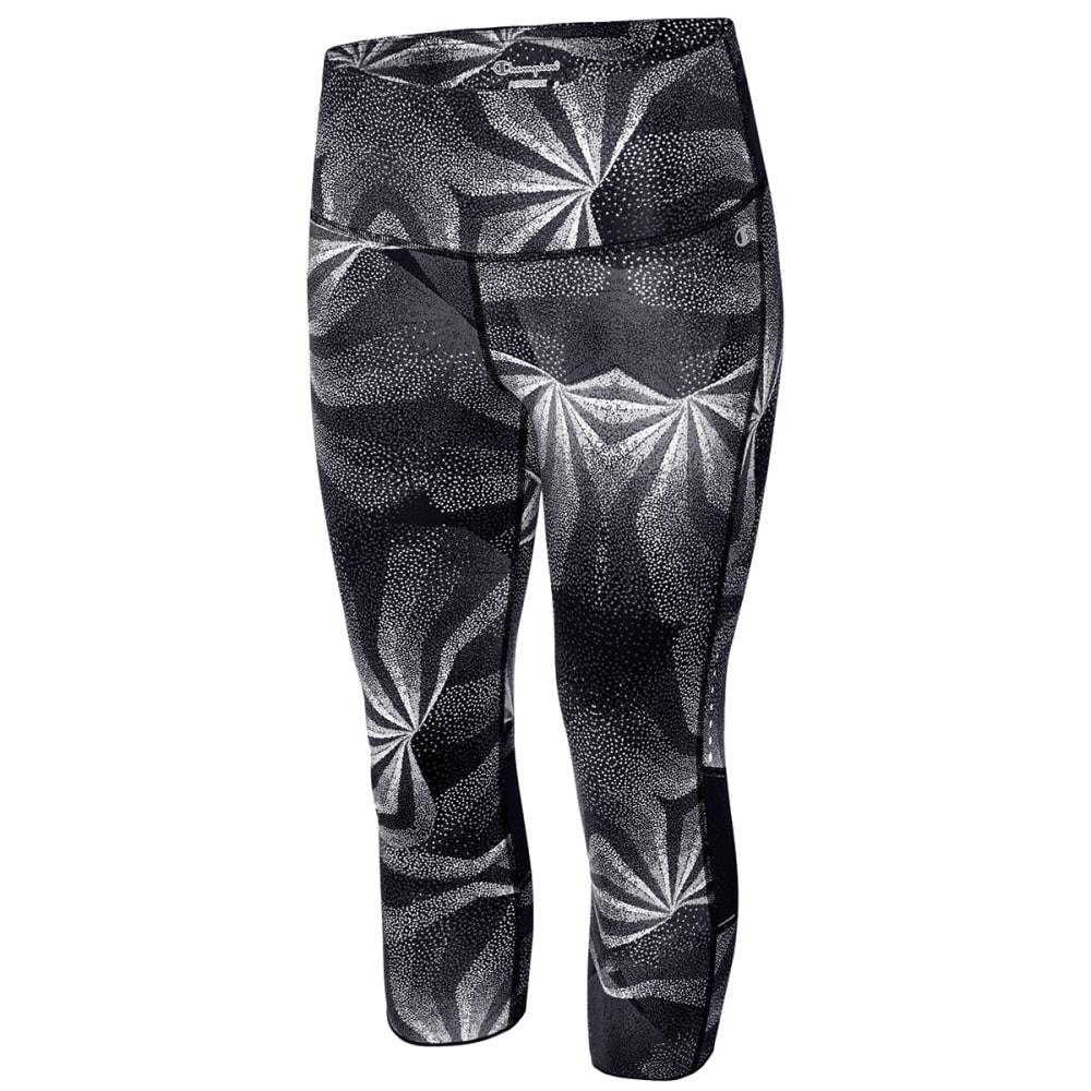 CHAMPION Women's Marathon Printed Knee Tight - BLACK/KALEID-00R
