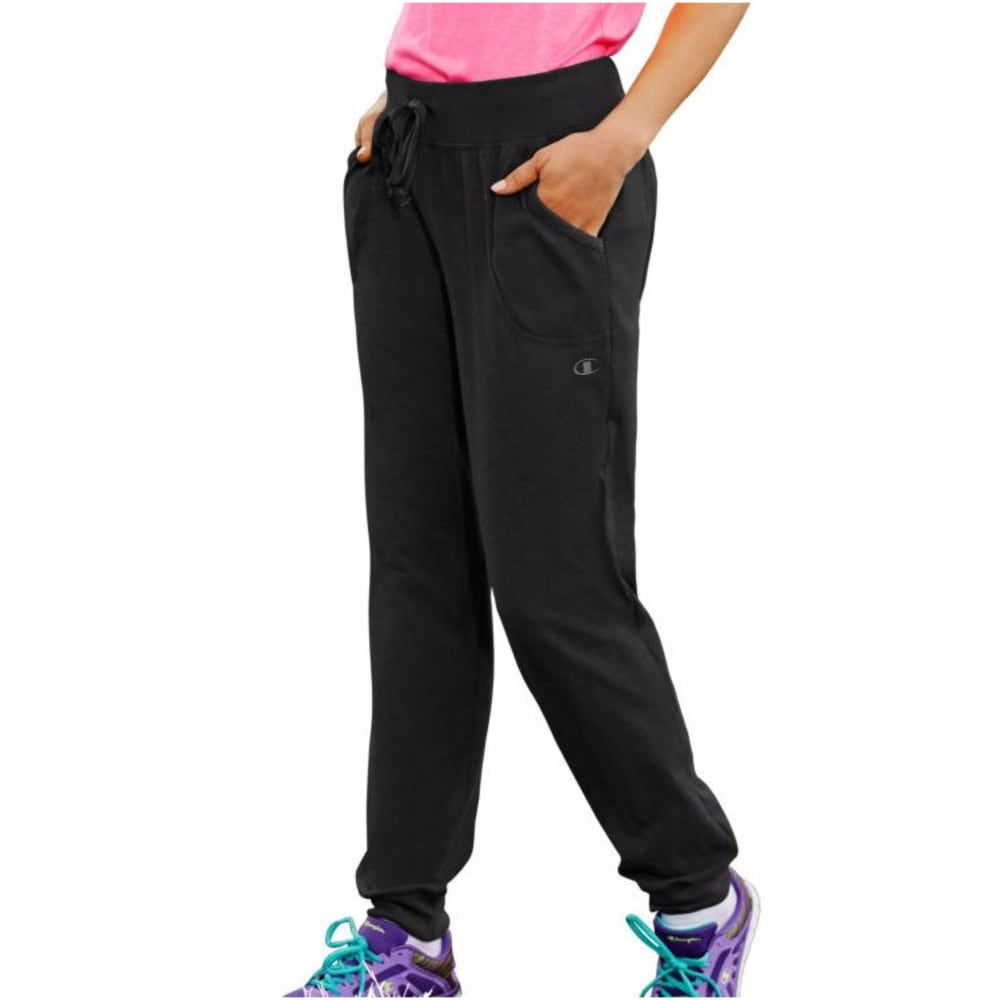Champion Women's Jersey Pocket Pants - Black, S