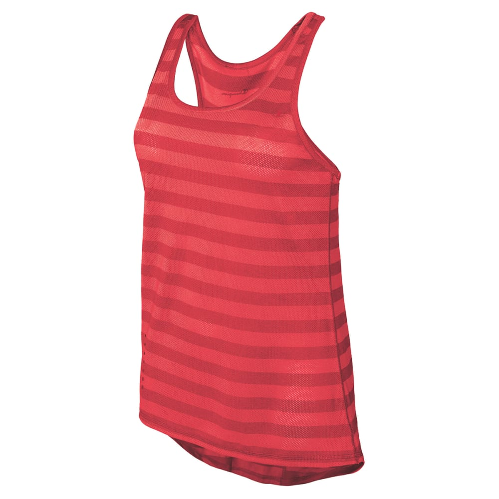 Champion Women's Vapor(TM) Stripe Tank - Orange, L