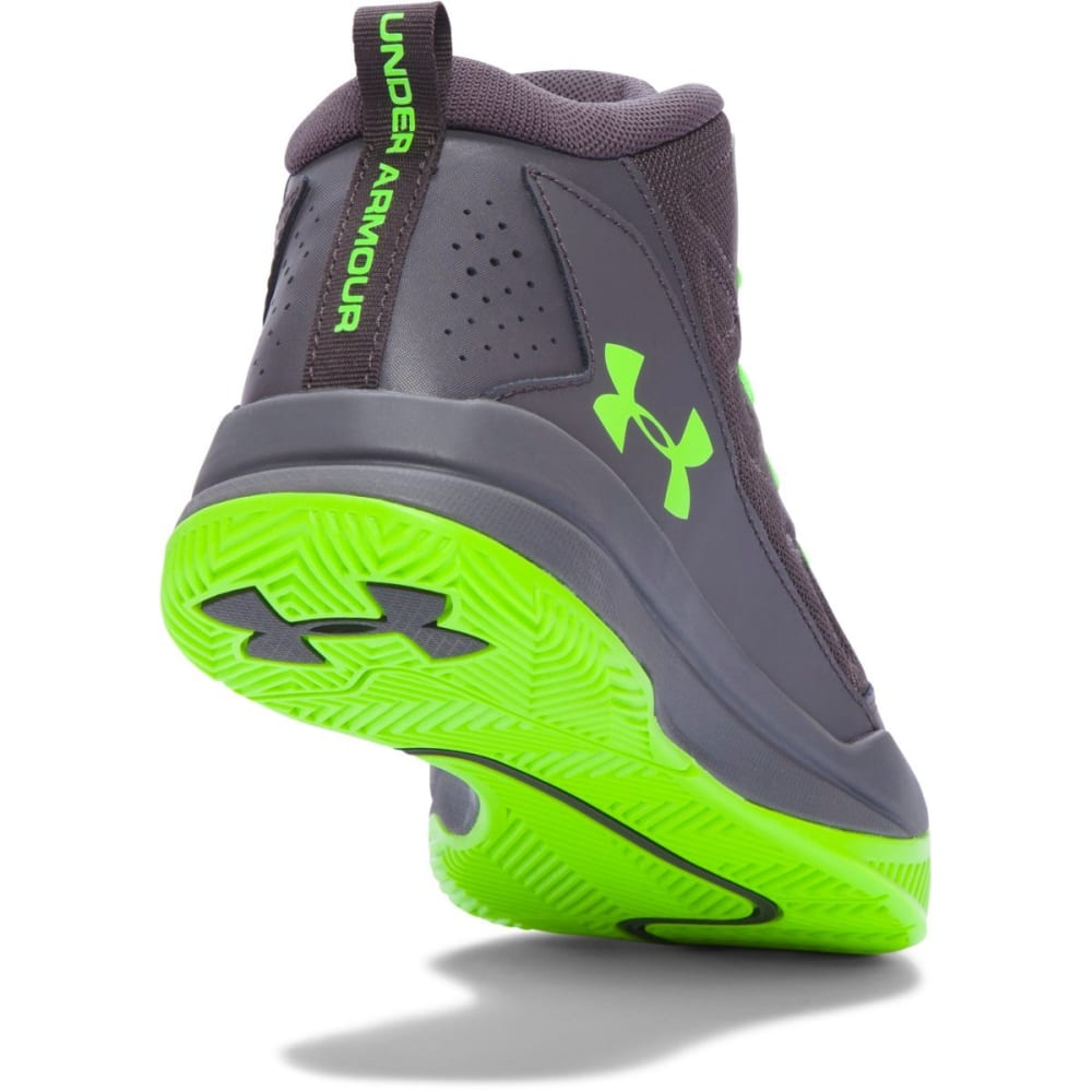 UNDER ARMOUR Boys' Grade School Jet Basketball Sneakers - GREY