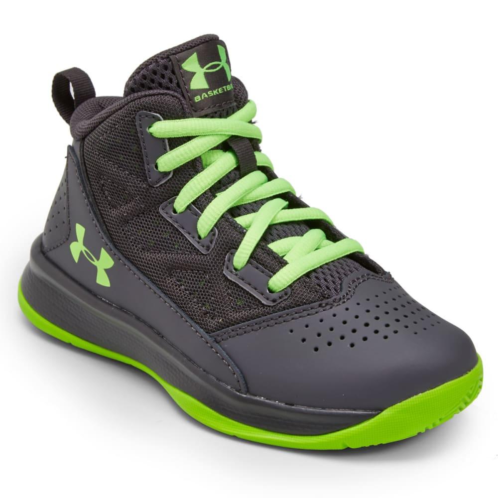 UNDER ARMOUR Boys' Grade School Jet Basketball Sneakers - GREY