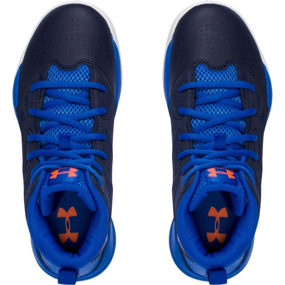 UNDER ARMOUR Boys' Grade School Jet Mid Basketball Shoes - NAVY