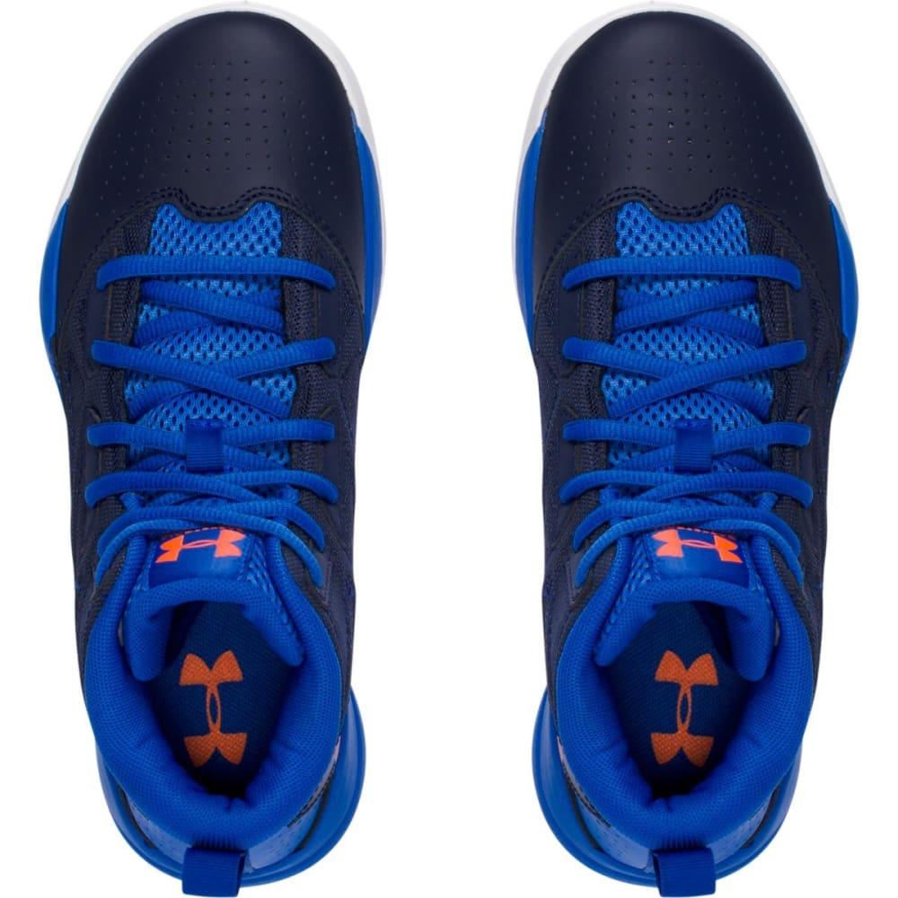 UNDER ARMOUR Boys' Grade School Jet Mid Basketball Shoes - NAVY