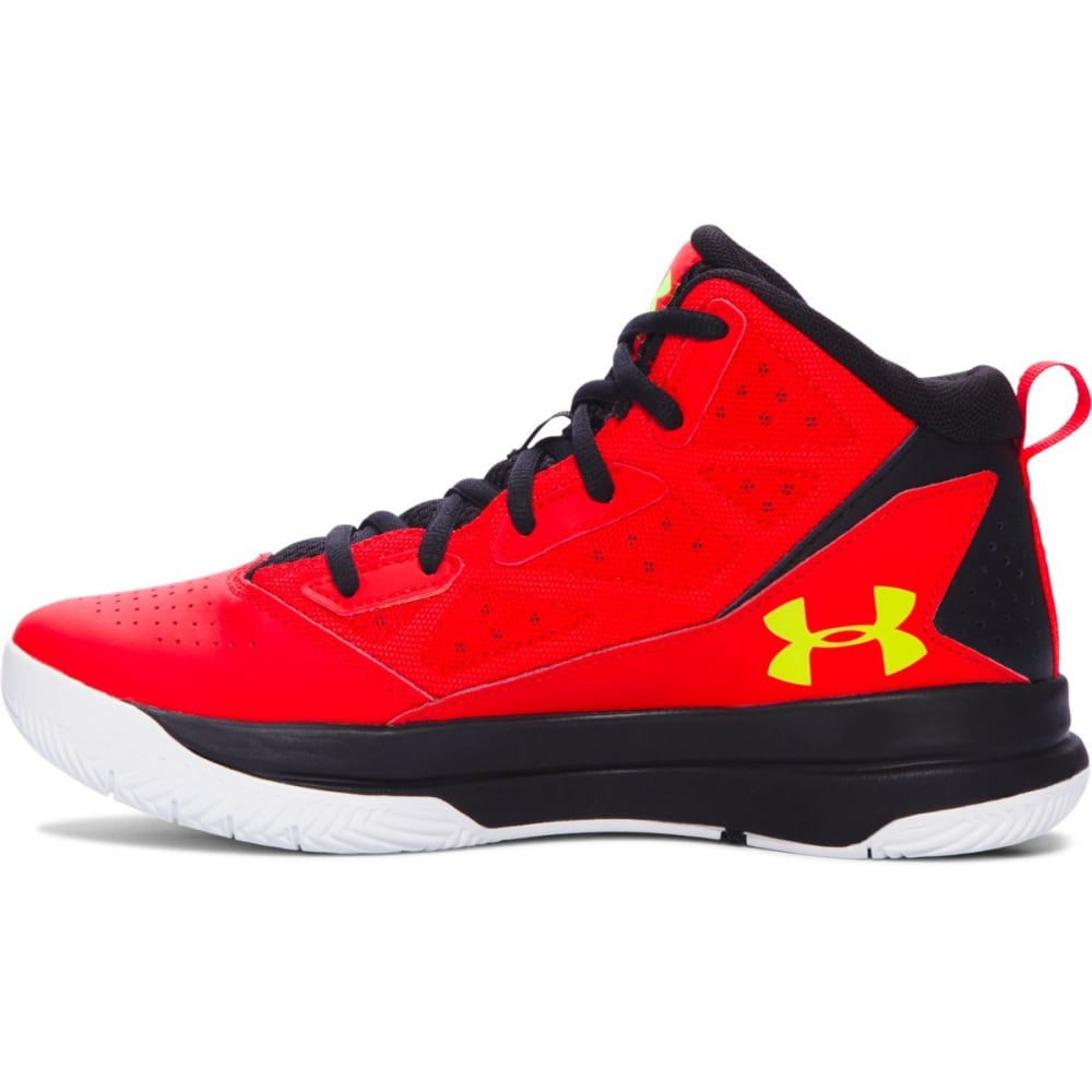 UNDER ARMOUR Boys' Grade School Jet Basketball Shoes - RED