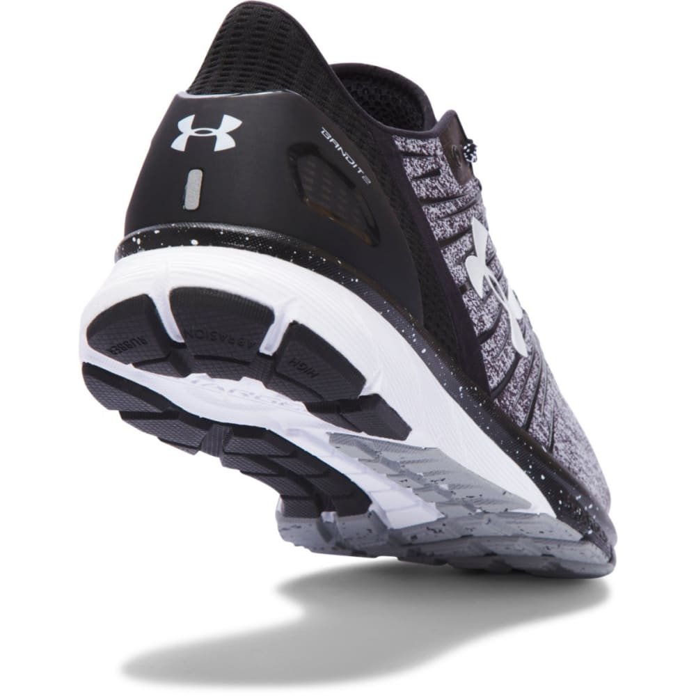 UNDER ARMOUR Men's Charged Bandit 2 Running Shoes, Wide - BLACK